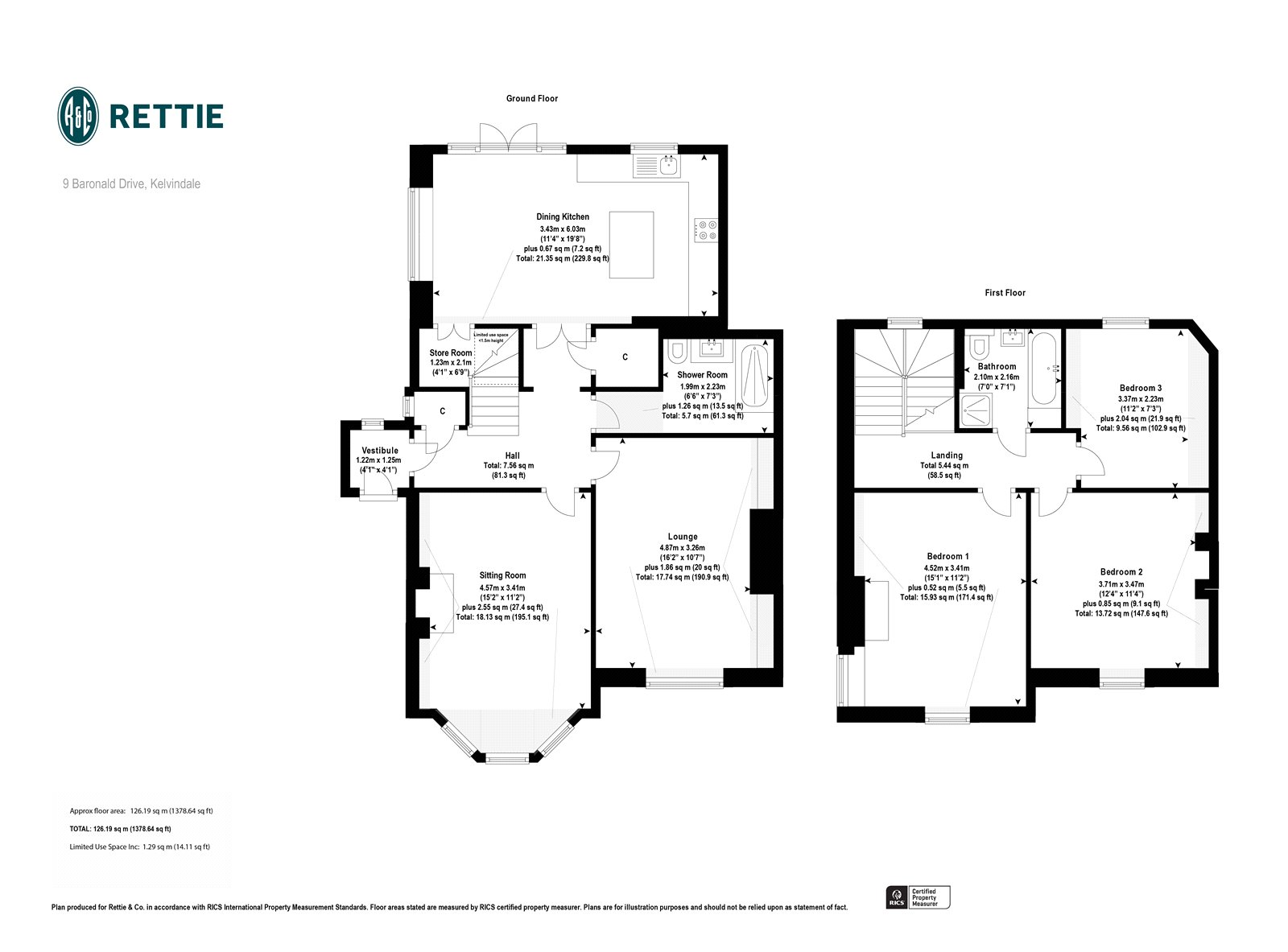 Floorplans for Baronald Drive, Kelvindale, Glasgow, G12