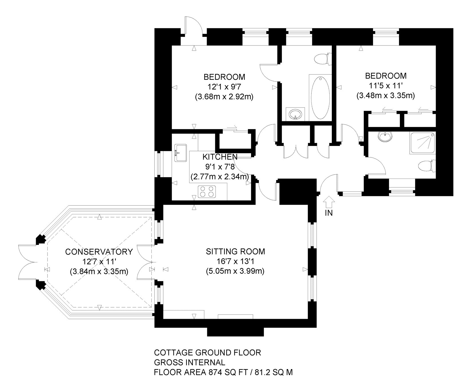 Floorplans for Blinkbonny House, Liberty Hall, Nr Haddington, EH41
