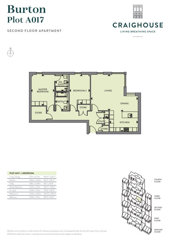 Floorplans for A017 - Craighouse, Craighouse Road, Edinburgh, EH10