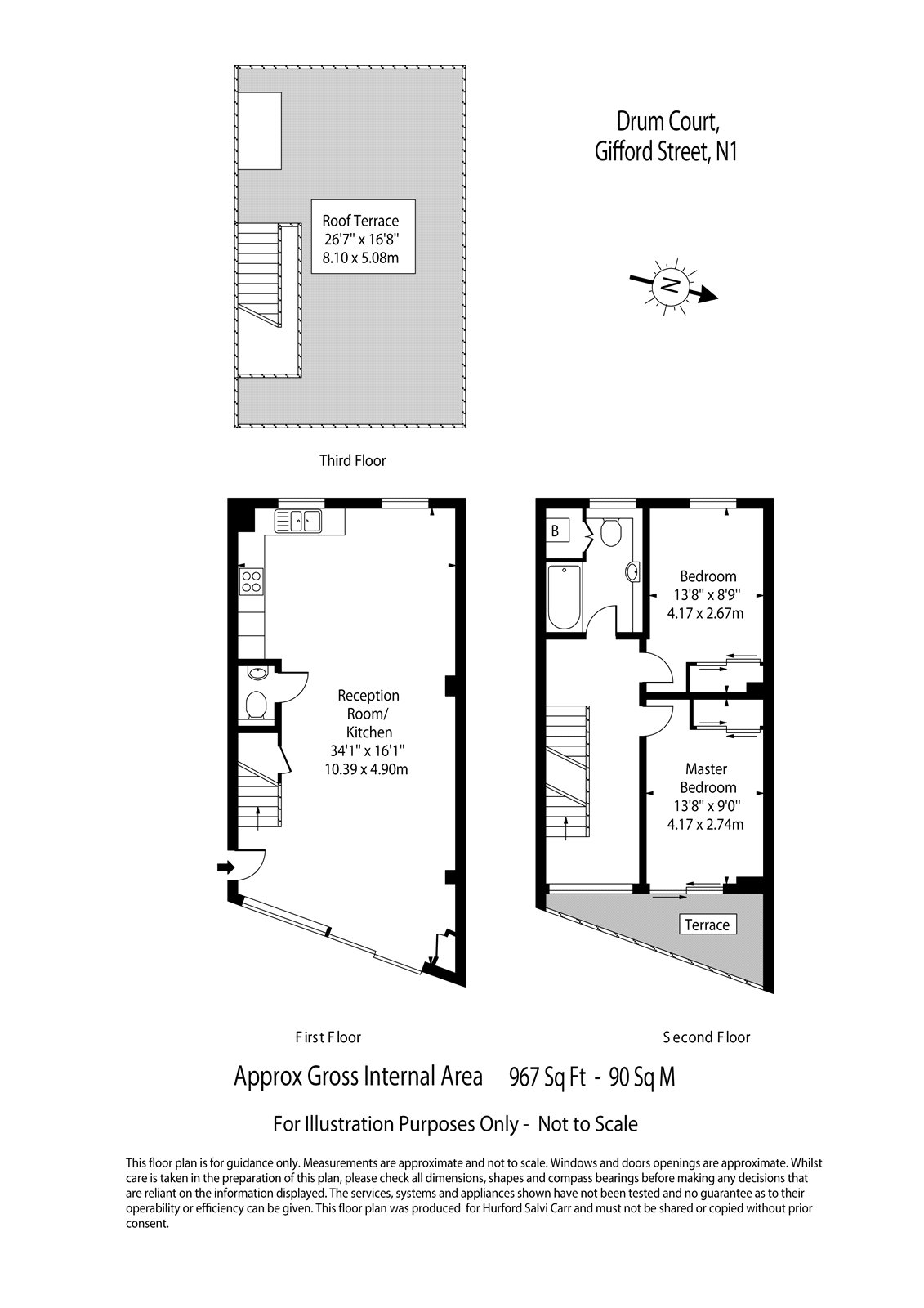 Gifford Street, Kings Cross, London, N1 floorplan