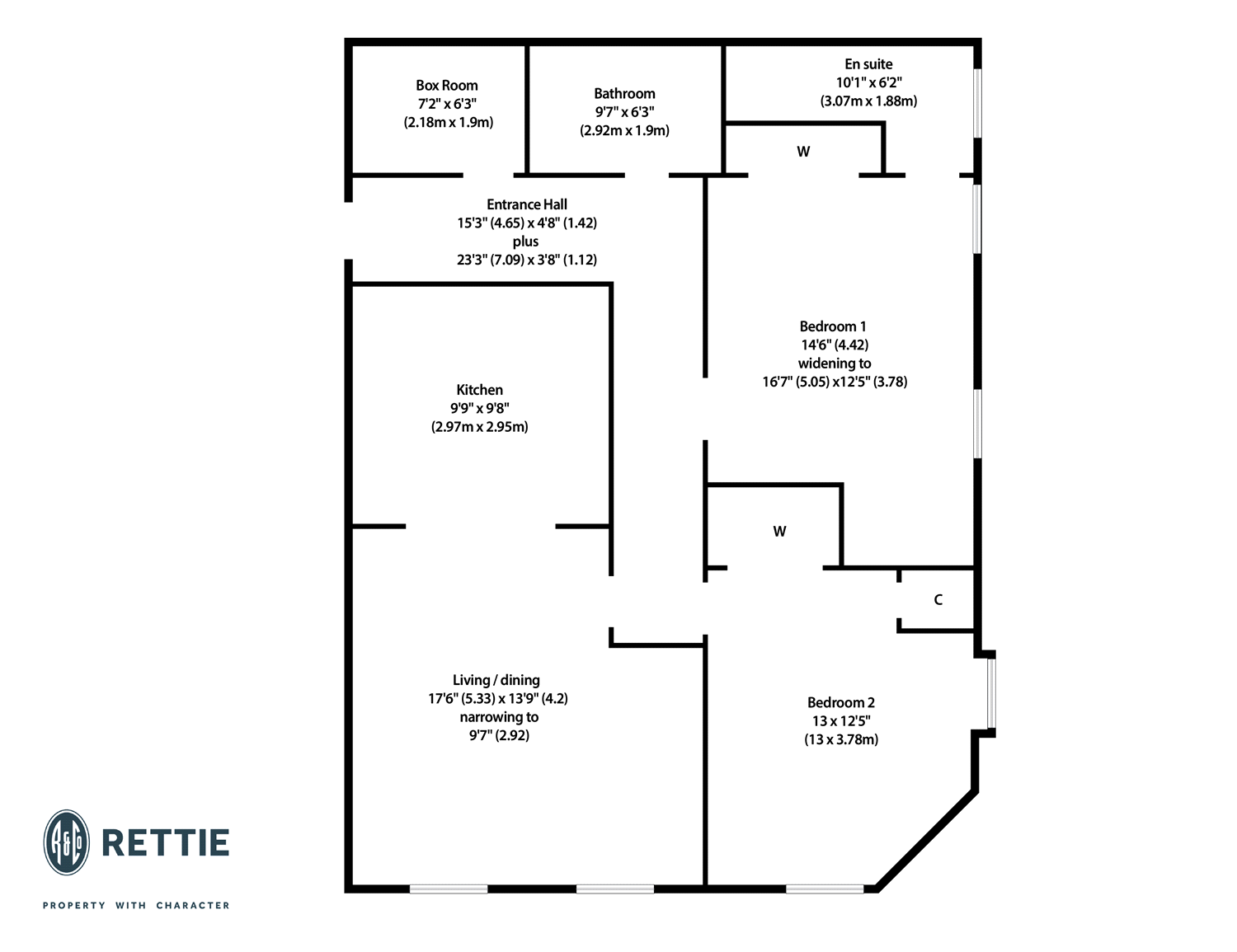 Floorplans for Glassford Street, Merchant City, Glasgow, G1