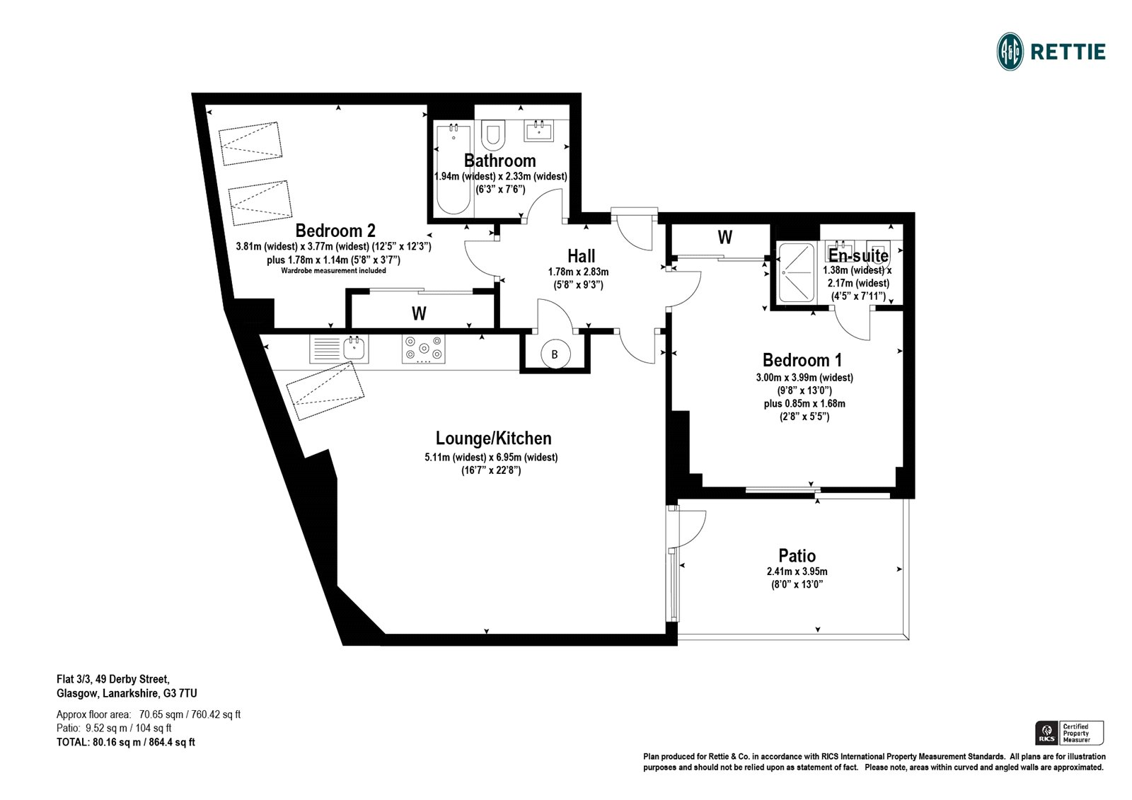Floorplans for Derby Street, Kelvingrove, Glasgow, G3