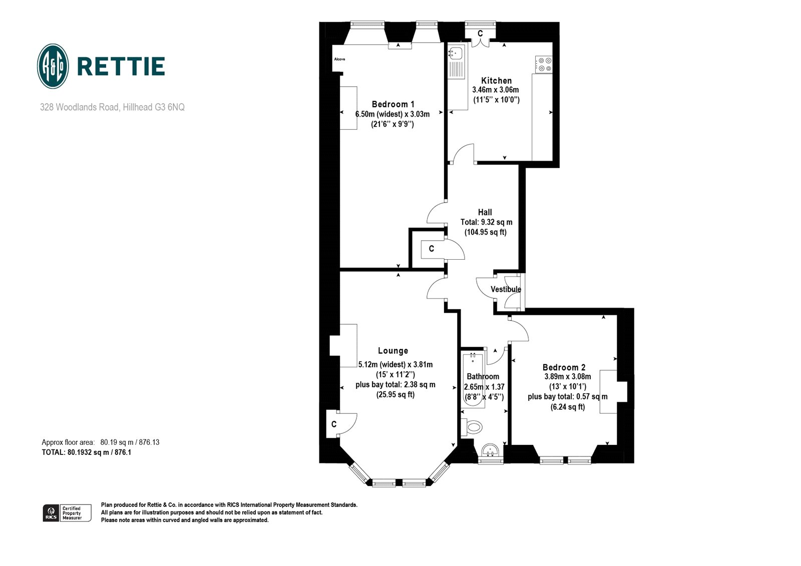 Floorplans for Woodlands Road, Woodlands, Glasgow, G3
