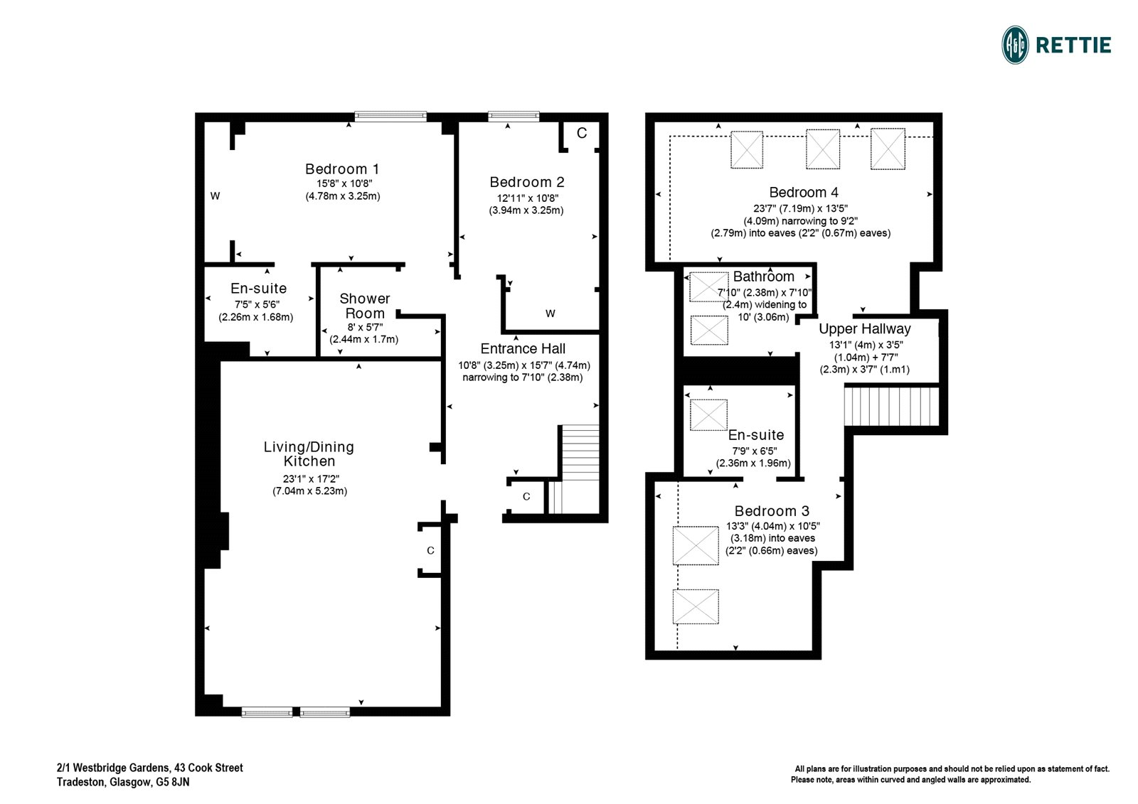 Floorplans for Cook Street, Tradeston, Glasgow, G5