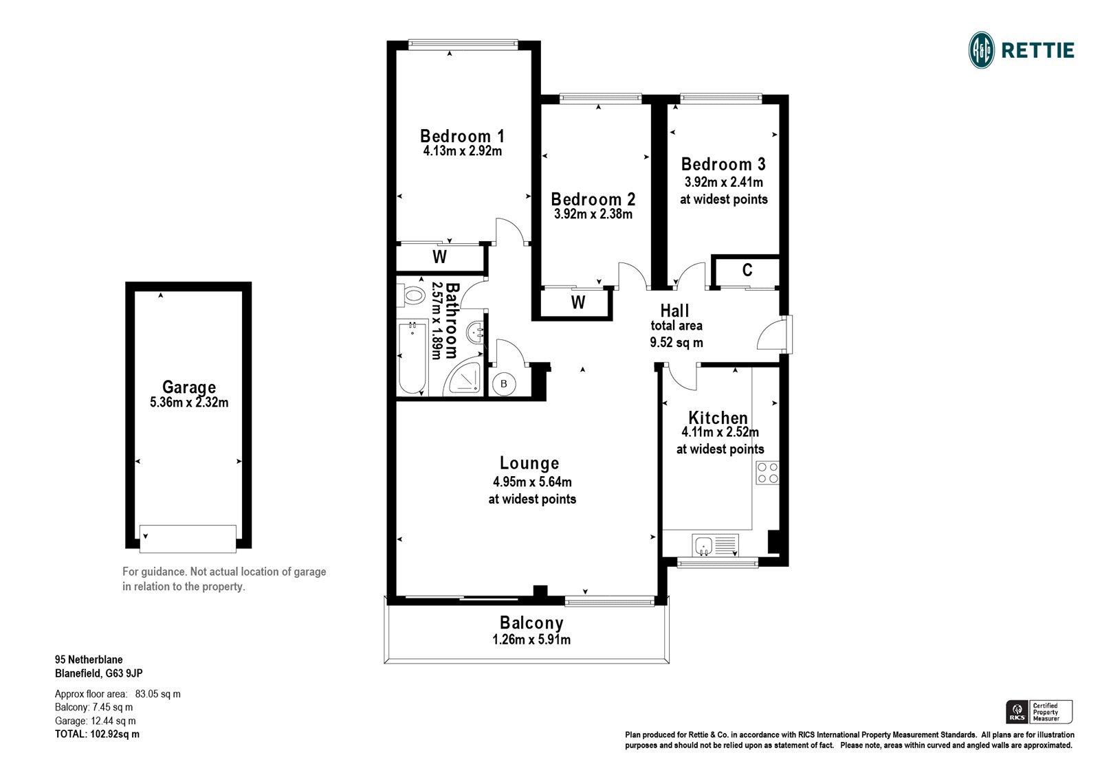 Floorplans for Netherblane, Blanefield, G63