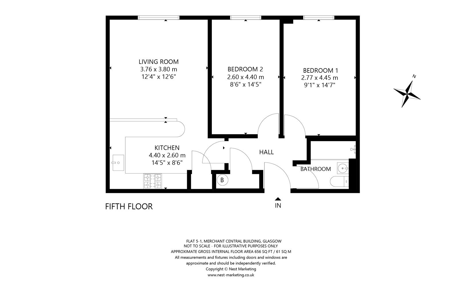 Floorplans for Blackfriars Road, Glasgow, G1