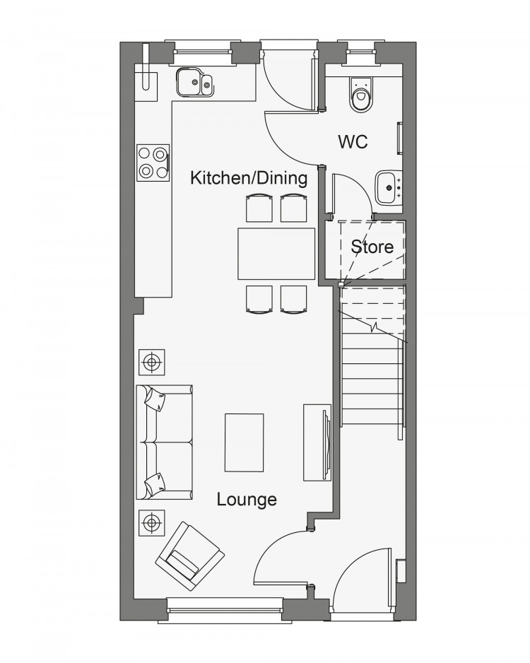 Floorplans for Plot 79, The Poplar 3, Ashgrove, Straiton, Midlothian, EH20
