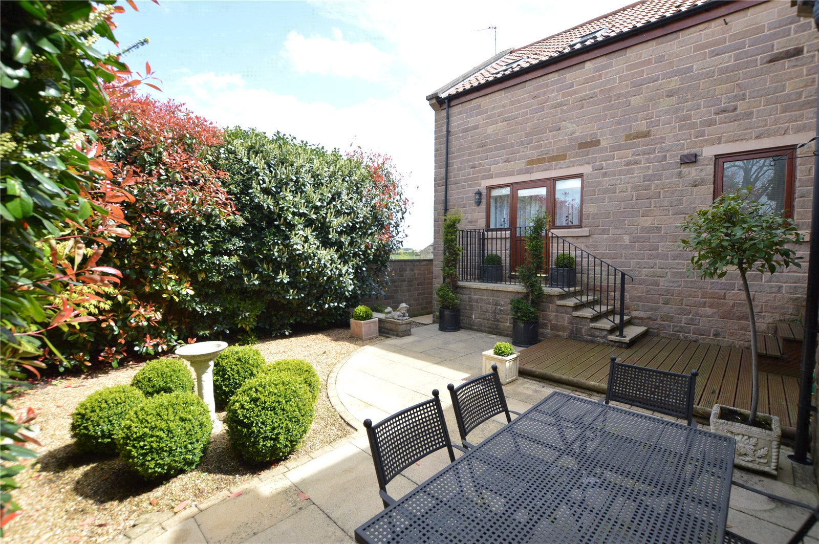 property for sale in Wetherby, rear of property, modern and landscaped garden