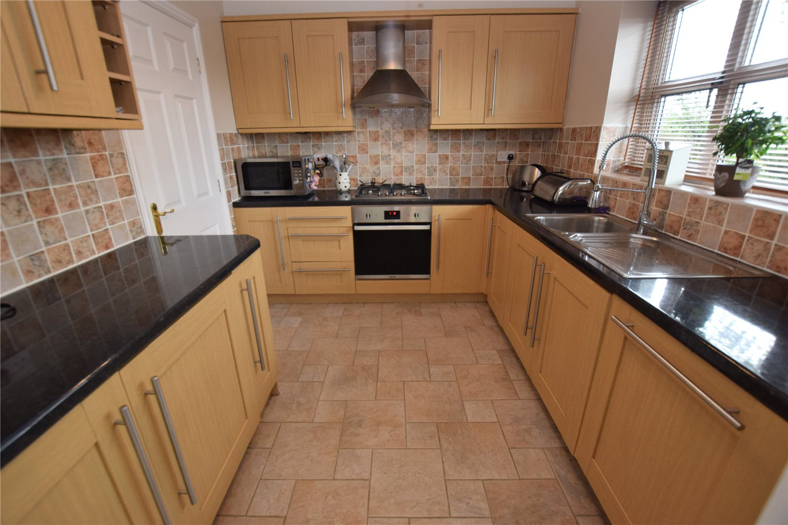 Property for sale in Wortley, fitted kitchen, beech and black counter top