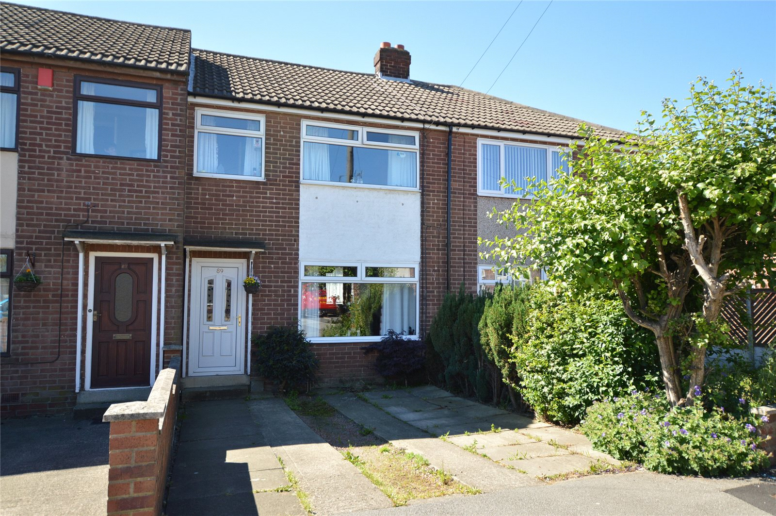 property for sale in  Morley, exterior of red brick terraced house
