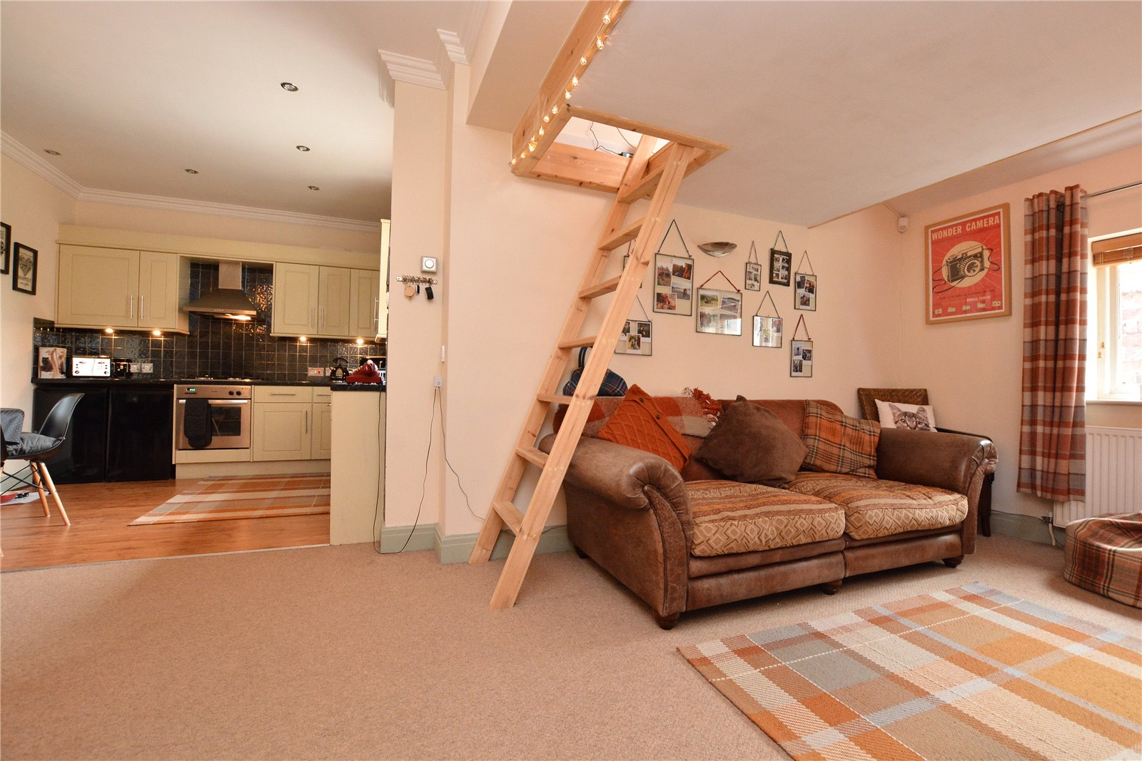 Property for sale in Wetherby, Living room and dining area open plan.