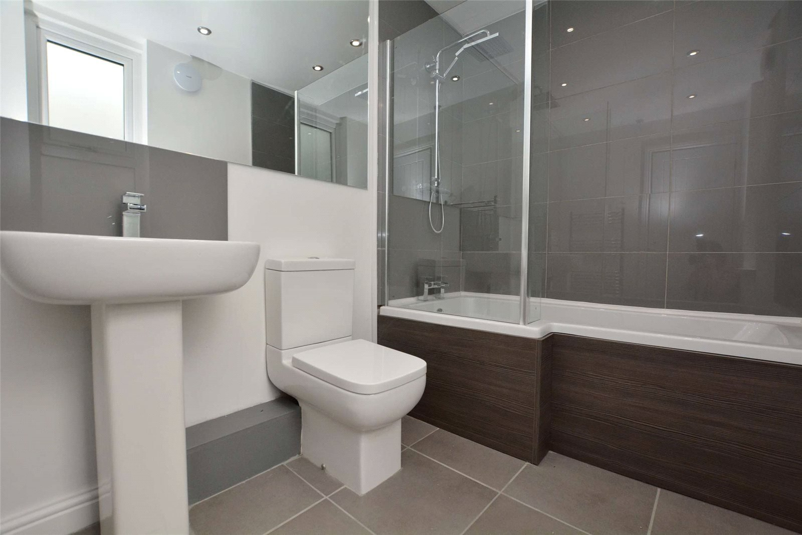 Property for sale in Leeds, interior modern fitted bathroom