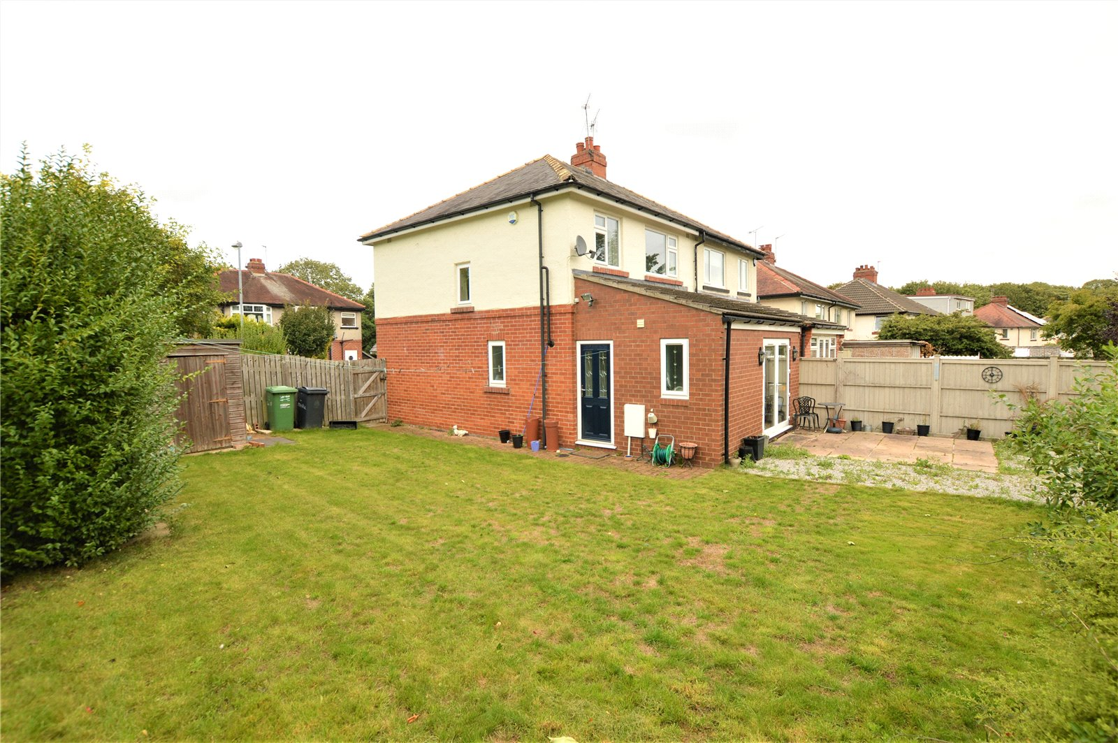 property for sale in Wetherby, exterior rear garden grass lawn