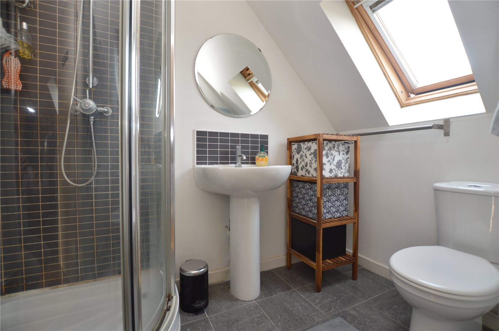 Property for sale in Pudsey, interior modern bathroom and walk in shower