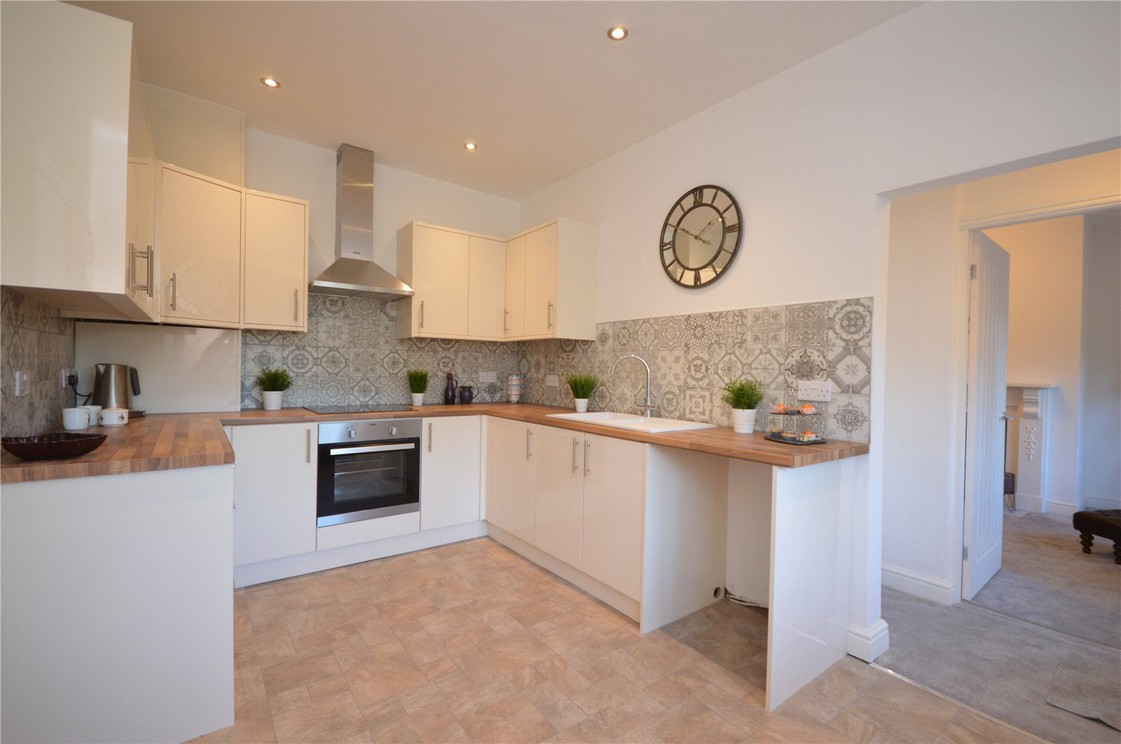 property for sale in Wakefield, interior kitchen modern and fitted