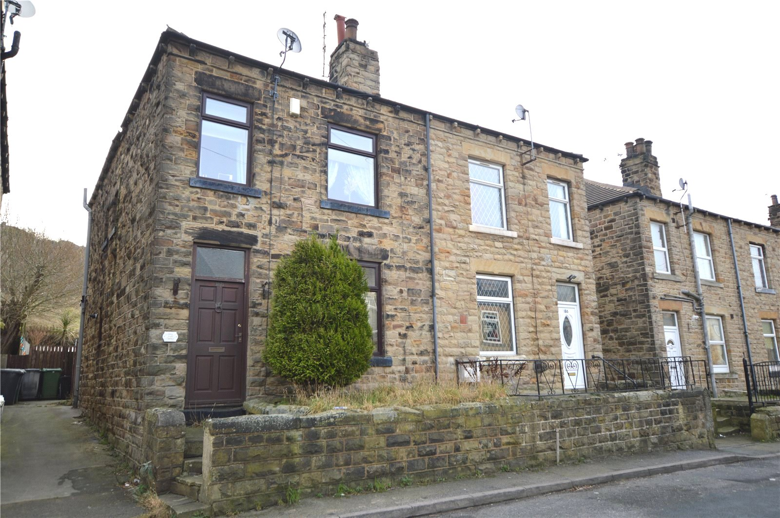 Property for sale in Batley, exterior end terrace home