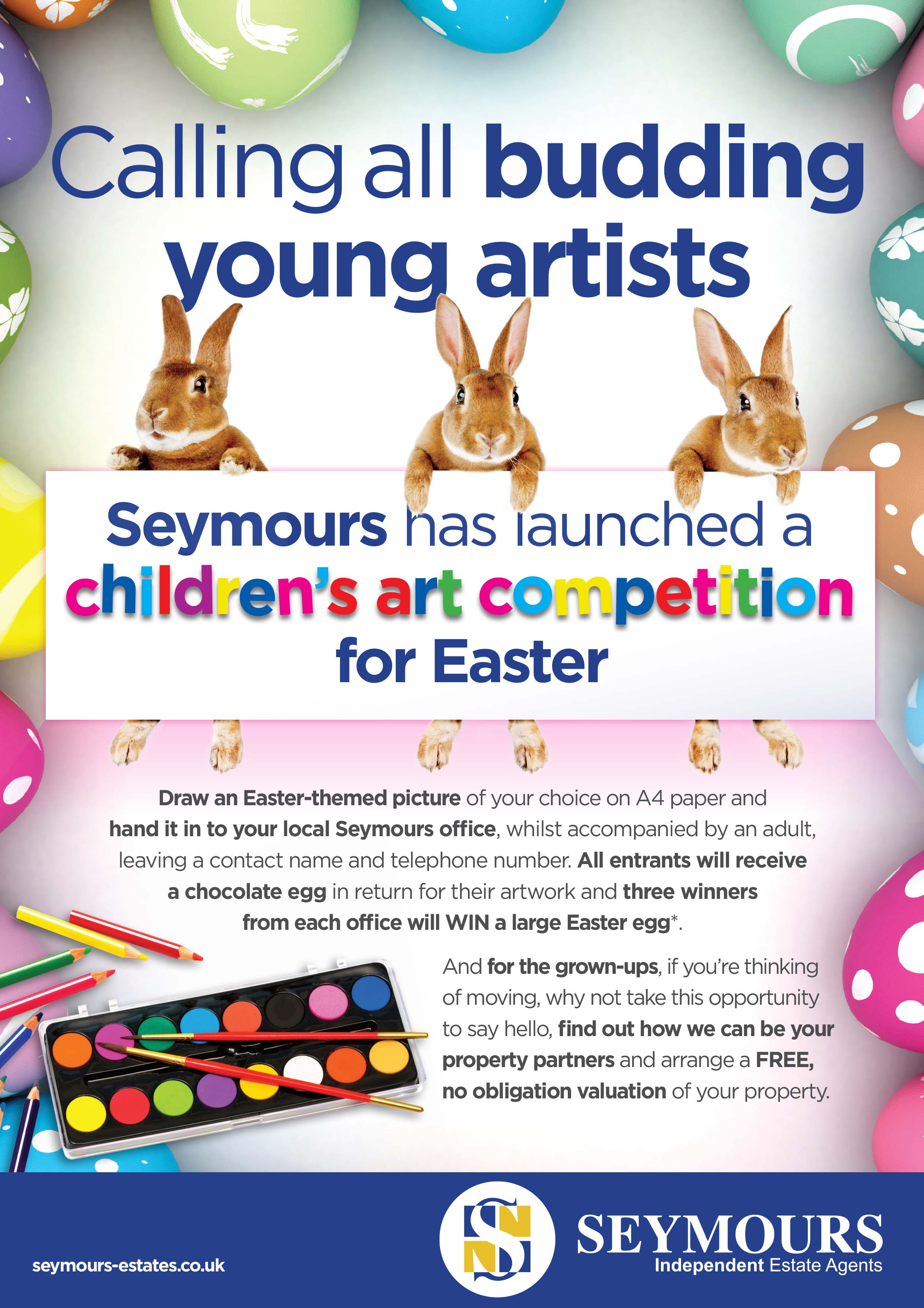 SEYMOURS SWAPS BRICKS AND MORTAR FOR BRUSH AND PALLETTE THIS EASTER