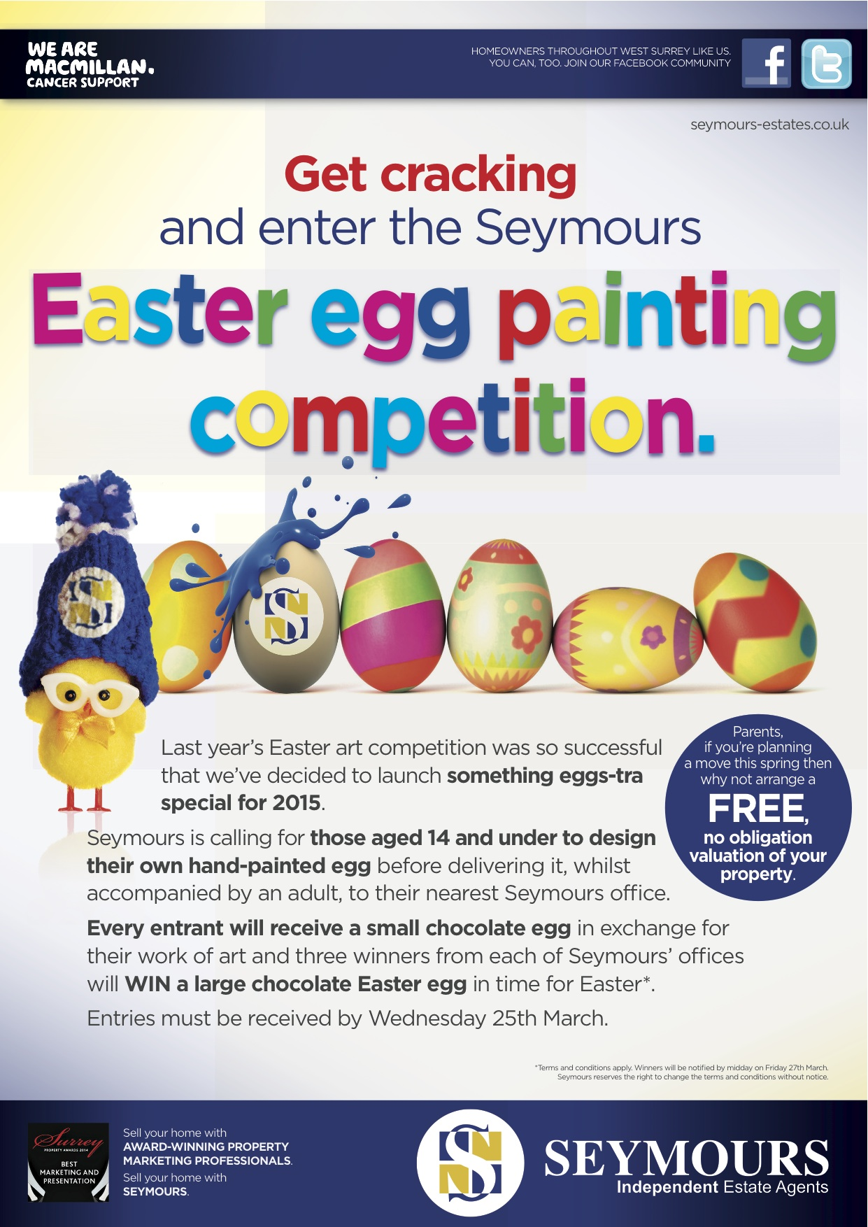 ENTER SEYMOURS' EASTER EGG PAINTING COMPETITION