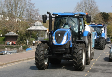 Tractors coast along for two worthy causes