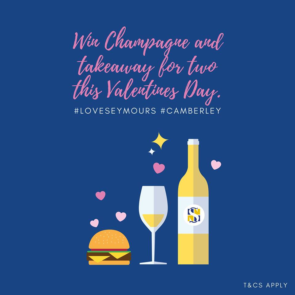 Seymours Camberley Valentine's Day Competition T&Cs