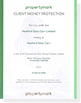 Client Money Protection Certificate Download